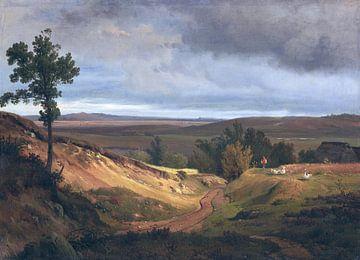 Heidelandschaft bei Silkeborg in Jütland, Dänemark, LOUIS GURLITT, Um 1840 von Atelier Liesjes