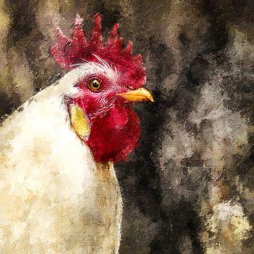 Haantje de voorste (schilderij) van Art by Jeronimo