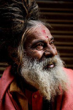 Varanasi Sadhoe, India van Marvin de Kievit