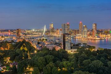 Rotterdam in de avond van Michael Valjak