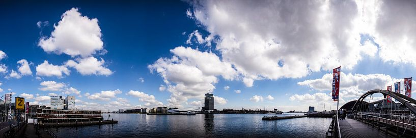 Het IJ Amsterdam panorama van PIX URBAN PHOTOGRAPHY
