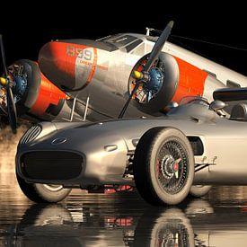 Mercedes W 196 Silver Arrow - Une voiture de sport emblématique de 1954 sur Jan Keteleer