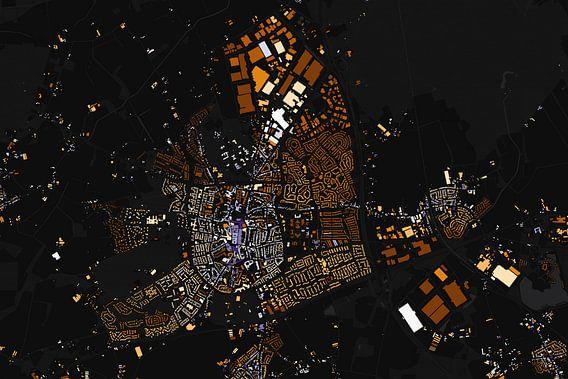 Kaart van Venray abstract van Stef Verdonk