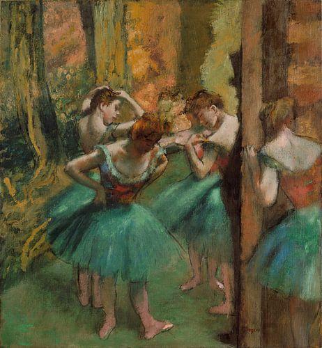 Dansers, Roze en Groen, Edgar Degas van Meesterlijcke Meesters