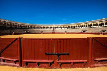 De arena voor stierengevechten in Sevilla Spanje. One2expose Wout Kok van