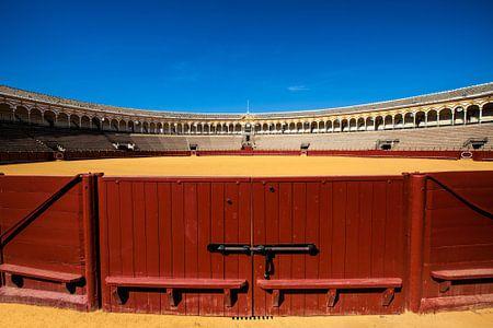 De arena voor stierengevechten in Sevilla Spanje. One2expose Wout Kok
