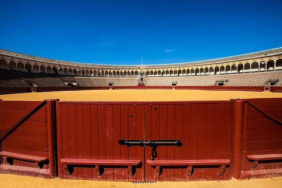 De arena voor stierengevechten in Sevilla Spanje. One2expose Wout Kok van Wout Kok