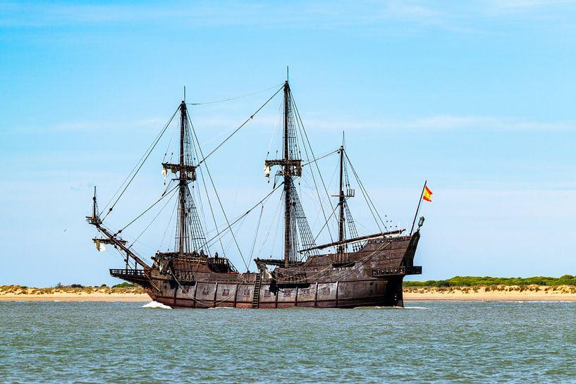 Houten piratenschip van Hans Verhulst