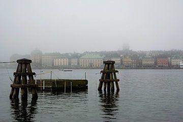 Stockholm in de mist van Helga van de Kar