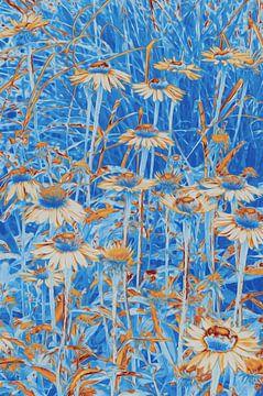 Abstracte bloemen van Diana Mets