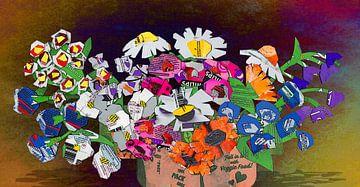 Chipper Bouquet mit Gänseblümchen von Ruud van Koningsbrugge