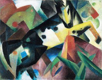 Springend paard, Franz Marc, 1912