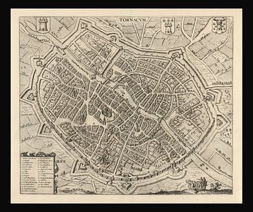 Oude kaart van de stad Gorinchem van omstreeks 1652. van Gert Hilbink