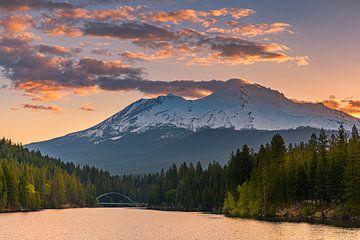 Blick auf den Mount Shasta, Kalifornien