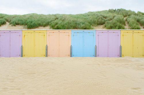 Strand cabines in Domburg van 7Horses Photography