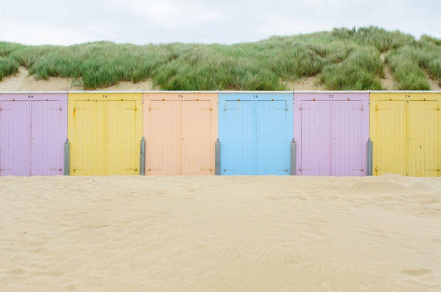 Strand cabines in Domburg