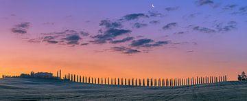 Zonsopkomst Poggio Covili, Val d'Orcia, Toscane, Italië van Henk Meijer Photography