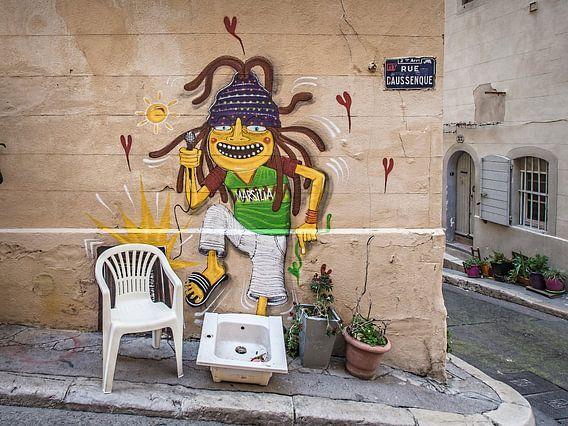 Marseille Grafitti VIII van Michael Schulz-Dostal