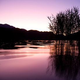 Lago de Levico Terme Sunset van Alex Sievers