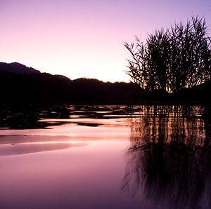 Lago de Levico Terme Sunset van