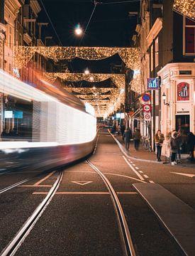 Utrechtsestraat am Abend von