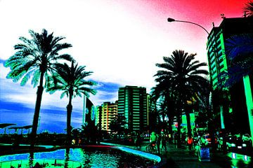 Tropische boulevard Lima Peru van Gerrit Neuteboom