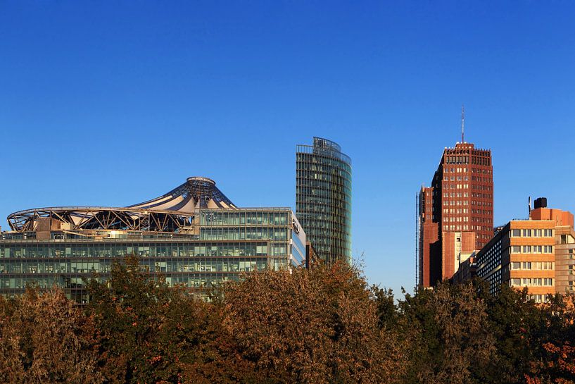 Skyline Berlin sur la Potsdamer Platz sur Frank Herrmann