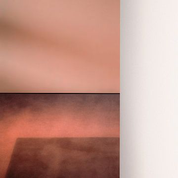 rosaer Teppich und weißer Bildschirm, Gilbert Claes von 1x