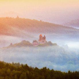 Burg im Nebel von Daniela Beyer