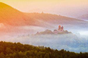 Burg im Nebel van