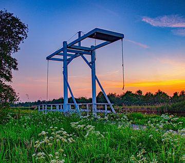Sonnenuntergang in der Provinz Weteringen in Overijssel von Richard Lubbers