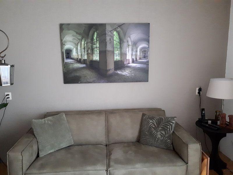 Photo de nos clients: Corridor vert sur Perry Wiertz, sur toile