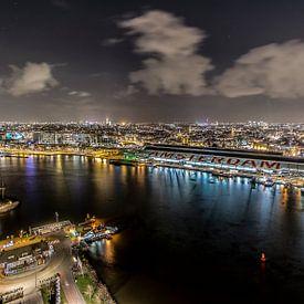 On top of Amsterdam, uitzicht vanaf A'DAM toren van Renzo Gerritsen