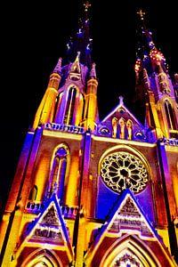 Verlichte Kerk von Margriet Cloudt