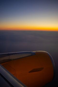 Sonnenuntergang aus dem Flugzeug von zogorium