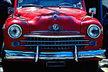 Alter roter Wagen auf Capri von Maurice Dawson