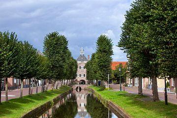 Stadhuis van Nieuwpoort tussen bomen van Peter de Kievith Fotografie