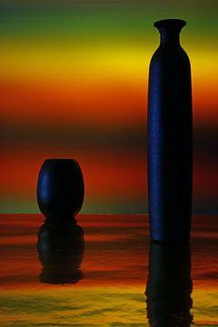 Zonsondergang, veelal te kort van duur..... van Wim Bodewes