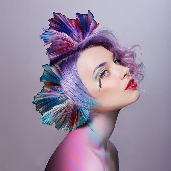 Het meisje met de fijnste kleuren van OEVER.ART