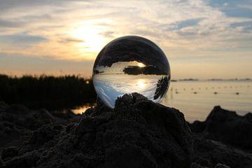 Zonsondergang Slotermeer Friesland van Fotografie Sybrandy