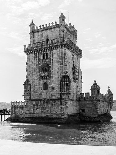 Torre de Belem Lissabon zwart wit