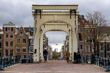Magere brug Amsterdam van Peter Bartelings Photography