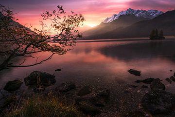 Sonnenaufgang am Silsersee von Markus Stauffer