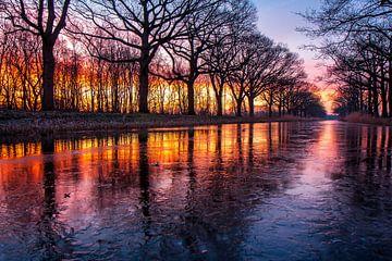 Sonnenaufgang am Apeldoorn-Kanal von Robbie Veldwijk