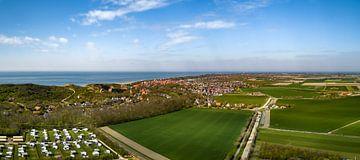 Dronebeeld van Zoutelande in de lente