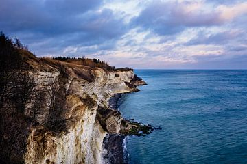 Les falaises de craie de Stevns Klint au Danemark