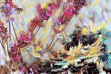 Lavendel Klee und Tanne
