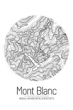 Mont Blanc | Landkarte Topografie (Minimal) von ViaMapia