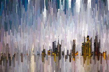 Abstracte skyline van Arjen Roos