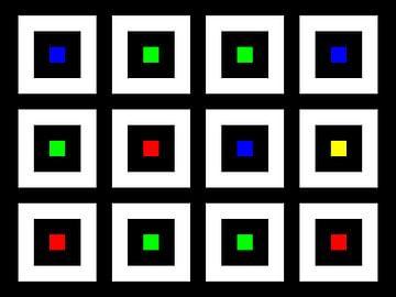 Nested | Center | 04x03 | N=02 | Random #08 | RGBY van Gerhard Haberern